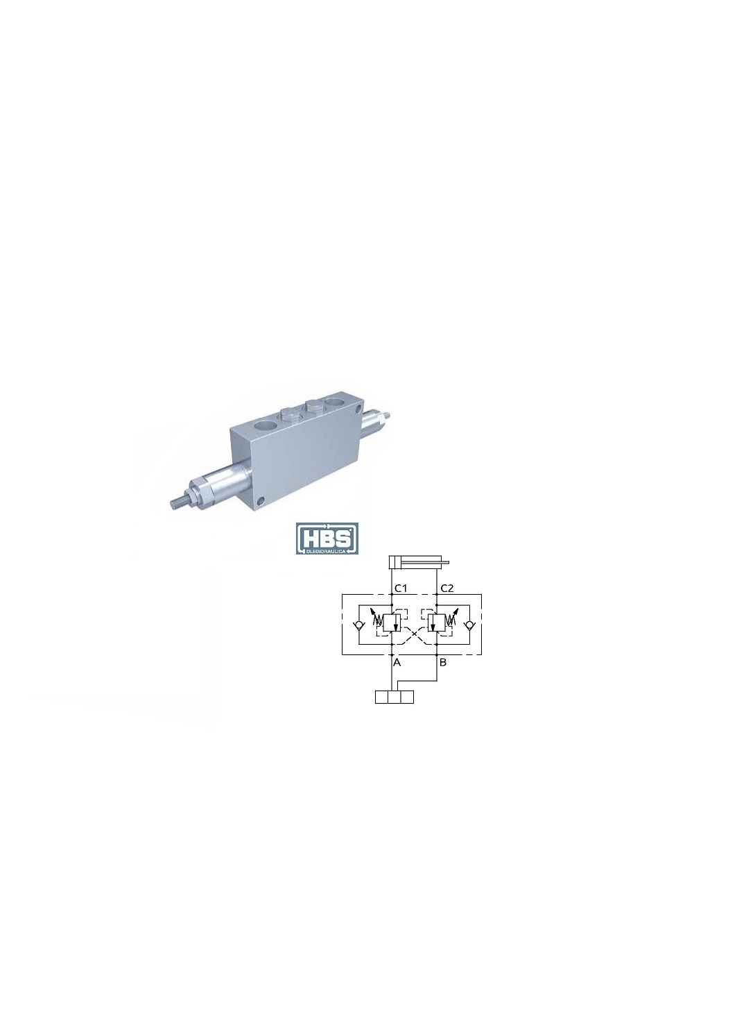 """Dual overcenter valve in line """"BR SERIES"""" – 3 4″G – 48.2 1. TECHNICAL  SHEETS DISPLAYS 87b1a74a4f9"""