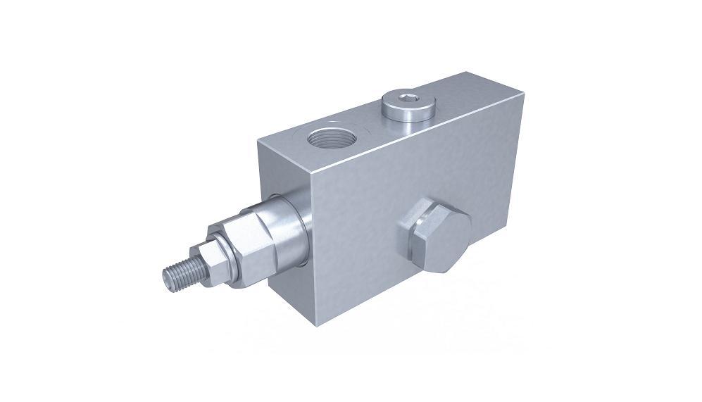 Клапаны контроля движения одностороннего действия фланцевые с вентилем